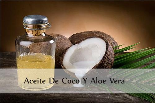 aceite de coco y aloe vera