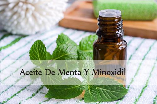 aceite de menta y minoxidil