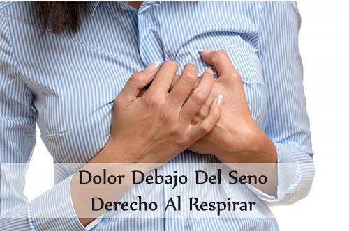 dolor debajo del seno derecho al respirar