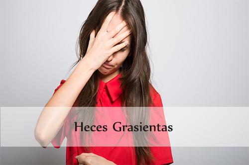 heces grasientas