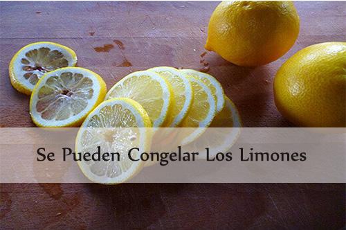 se pueden congelar los limones