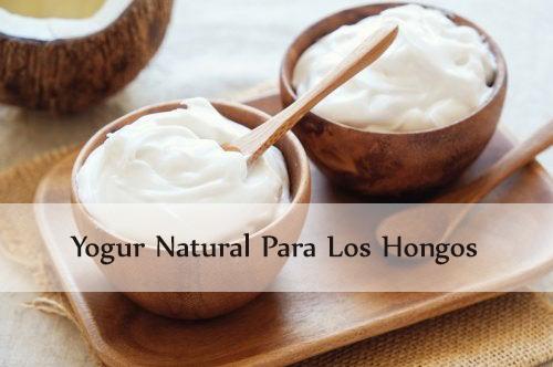 yogur natural para los hongos