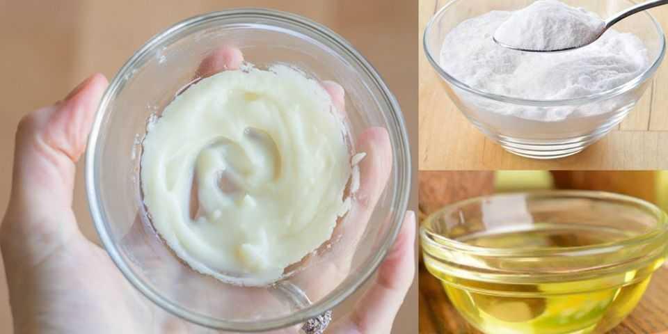 Aceite de coco y bicarbonato de sodio